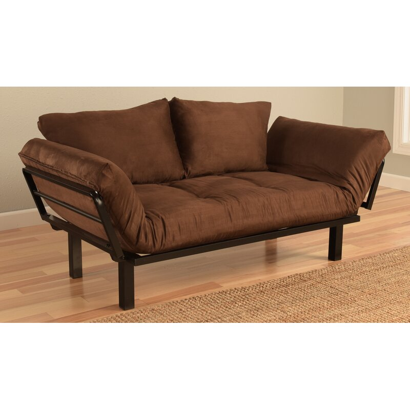 Everett Convertible Futon Lounger And Mattress