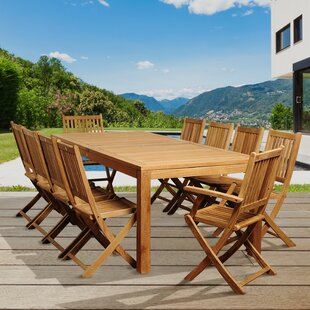 Rosecliff Heights Bridgepointe 11 Piece Teak Dining Set