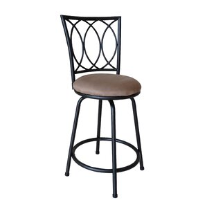 Lanark Adjustable Height Swivel Bar Stool by Andover Mills