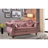 Gargano Velvet 65.5 Rolled Arm Loveseat by House of Hampton®