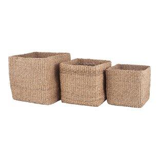 Monteforte Seagrass 3 Piece Basket Set By Bloomsbury Market
