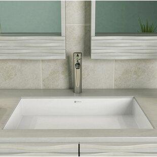DECOLAV Saidi Solid Surface NULL Rectangular Undermount Bathroom Sink with Overflow