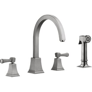 Design House Torino Double Handle Kitchen Faucet with Side Spray