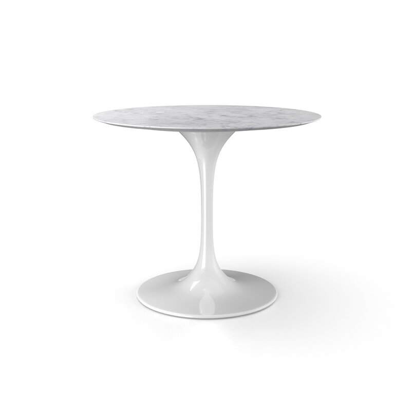 Genial Larkson White Oval Marble Dining Table