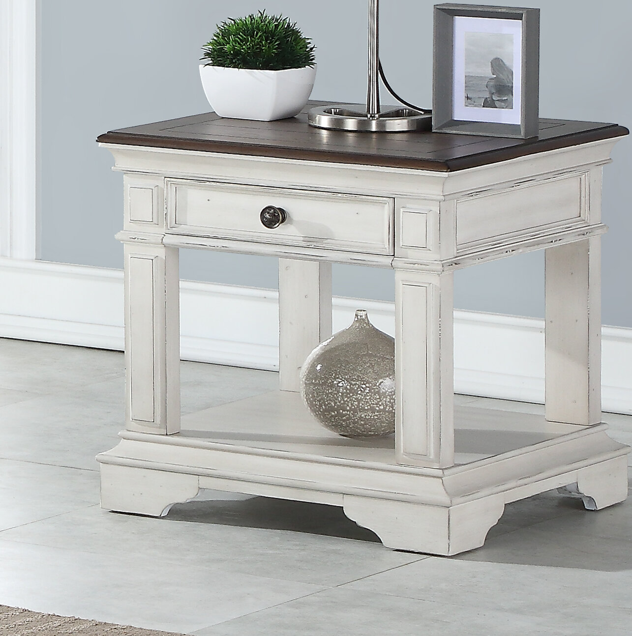 French Country Oak End Side Tables You Ll Love In 2020