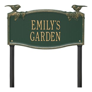 Vine Chickadee Personalized Garden Sign By Whitehall Products