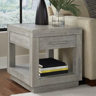 Macaluso Acacia Wood End Table by Williston Forge