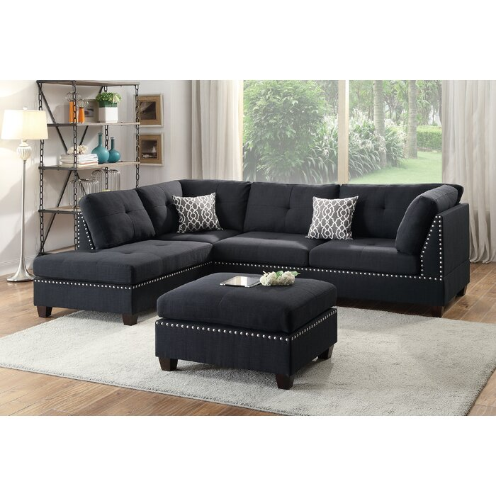 Groovy Raelyn Reversible Sectional With Ottoman Gmtry Best Dining Table And Chair Ideas Images Gmtryco