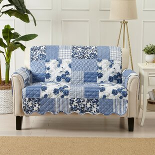 Patchwork Scalloped Printed Box Cushion Loveseat Slipcover By Winston Porter