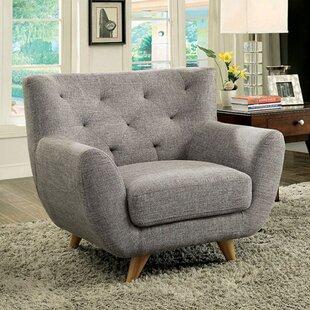 Brayden Studio Hydri Midcentury Chesterfield Chair