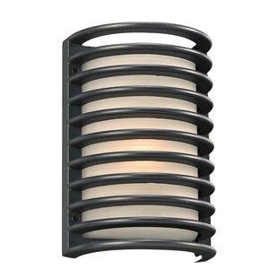 Ebern Designs Minchinhampton 1-Light Outdoor Flush Mount