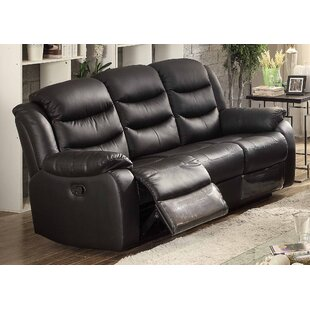 Bennett Leather Reclining Sofa by AC Pacific