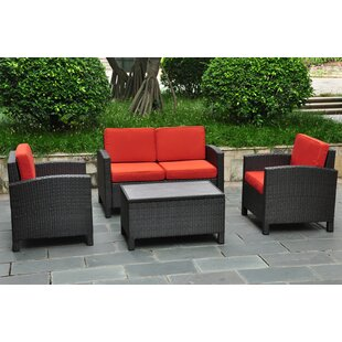 Katzer 4 Piece Sofa Set with Cushions