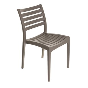 Escarcega Stacking Patio Dining Chair by Ivy Bronx Comparison