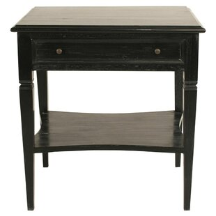 Oxford End Table With Storage by Noir New