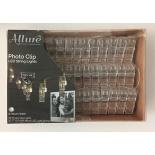 Great Price LED Novelty String Light with Photo Clip By Boston Warehouse Trading Corp