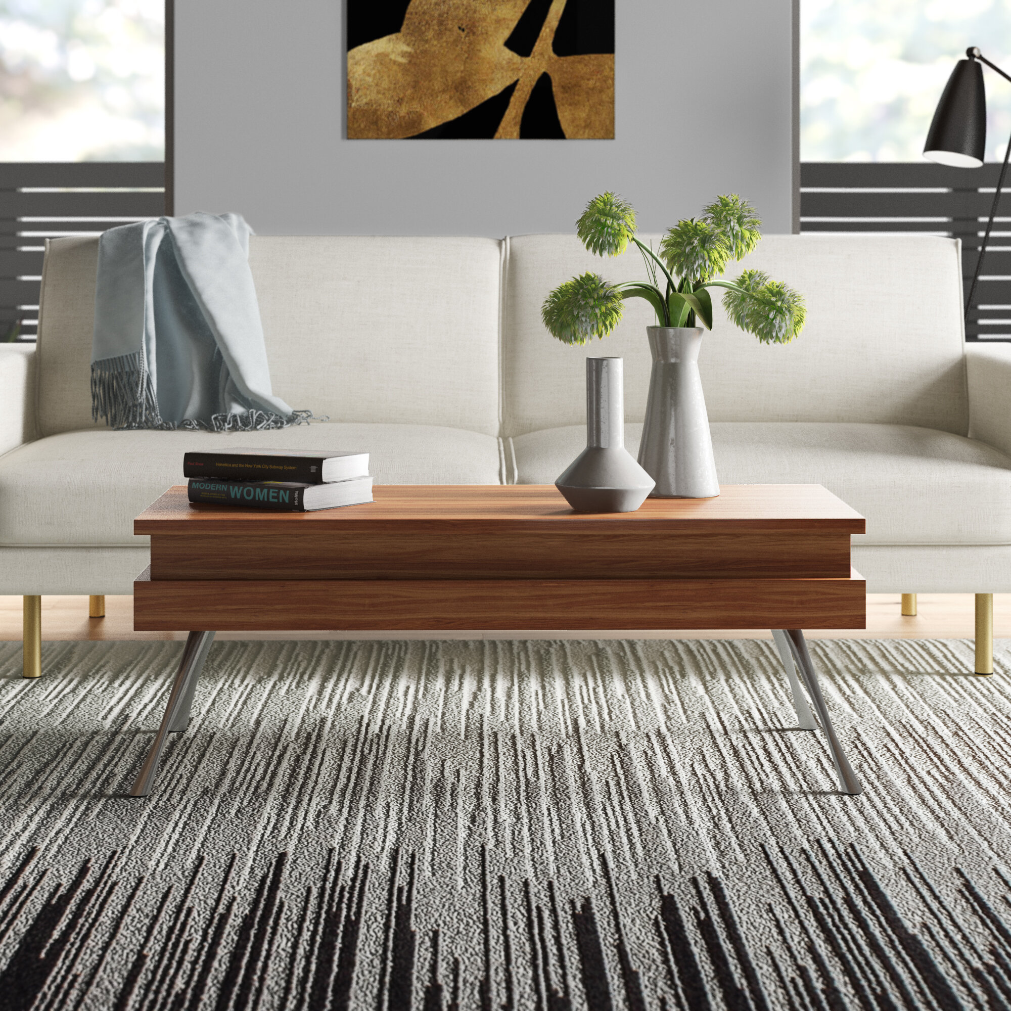 Lenora Lift Top Coffee Table With