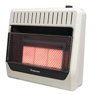 Heating Ventless Plaque Propane Infrared Wall Mounted Heater With Automatic Thermostat By ProCom