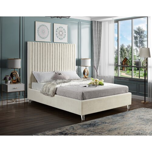 Everly Quinn Fuiloro Upholstered Tufted Low Profile Platform Bed Reviews Wayfair