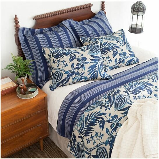 The Pillow Collection Amadis Geometric Bedding Sham Blue Standard//20 x 26,