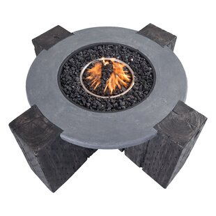 dCOR design Concrete Propane Fire Pit Table