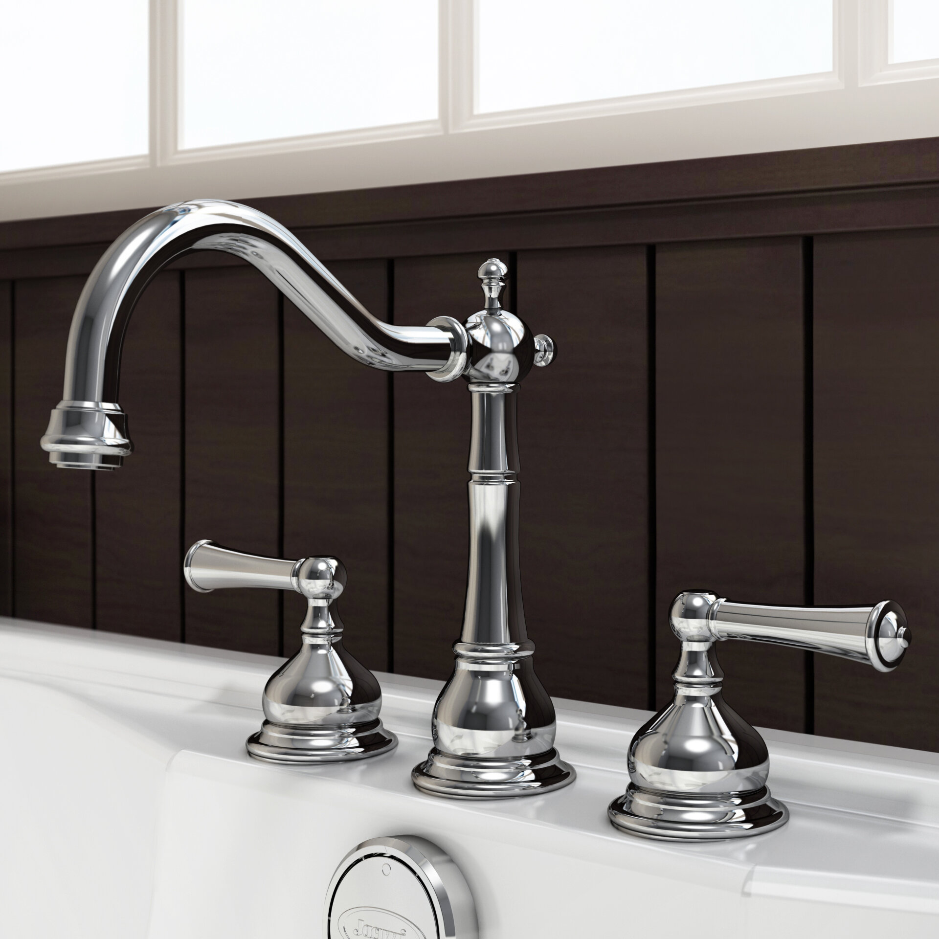 Jacuzzi® Barrea Double Handle Deck Mount Roman Tub Faucet Trim | Wayfair