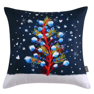 Lucienne Christmas Tree Cotton Throw Pillow