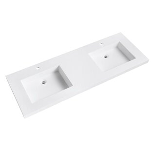 Comparison VersaStone 61 Double Bathroom Vanity Top By Avanity