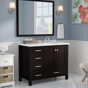 Best Choices Marine Modern 43 Single Bathroom Vanity Set with Mirror ByAndover Mills