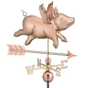 Flying Pig With Arrow Weathervane By Good Directions