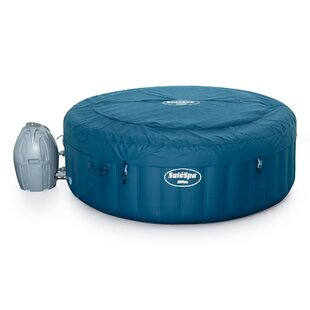 Coleman 6 - Person 80 - Jet Round Inflatable Hot Tub in Teal