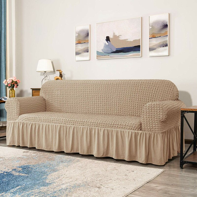 Winston Porter Seersucker Box Cushion Loveseat Slipcover Reviews Wayfair