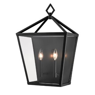 Gracie Oaks Ella 2-Light Outdoor Flush Mount