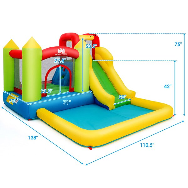 9.2' x 11.5' Bounce House with Water Slide
