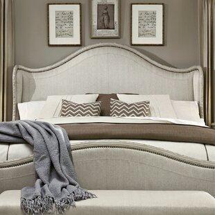 Astoria Grand Clevinger Upholstered Wingback Headboard