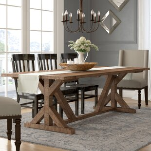 Abbey Solid Wood Dining Table by Lark Manor