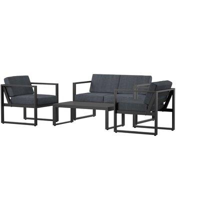 Mercury Row Mirando 4 Piece Sofa Set
