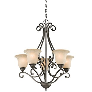 Camerena 5 Light Shaded Chandelier