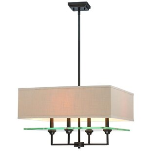 Compare Potts 4-Light Shaded Chandelier By Charlton Home