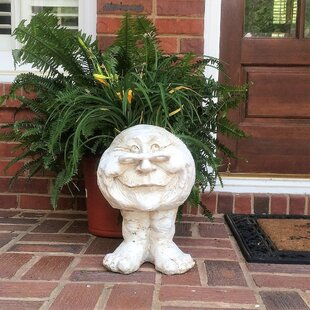 Muggly The Face Grandma Rose Statue Planter by HomeStyles