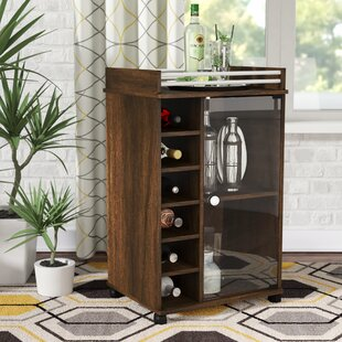 Commonwealth Glass Door Bar Cart by Ebern Designs