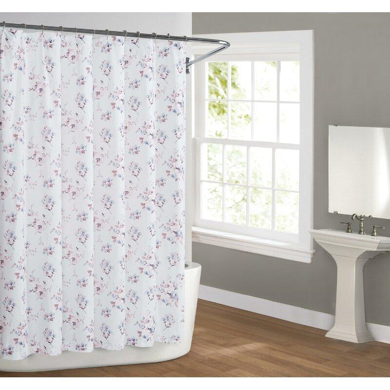 August Grove Aguila Bloom Cotton Single Shower Curtain Wayfair