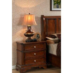 Wildon Home ® Bayliss 3 Drawer Nightstand