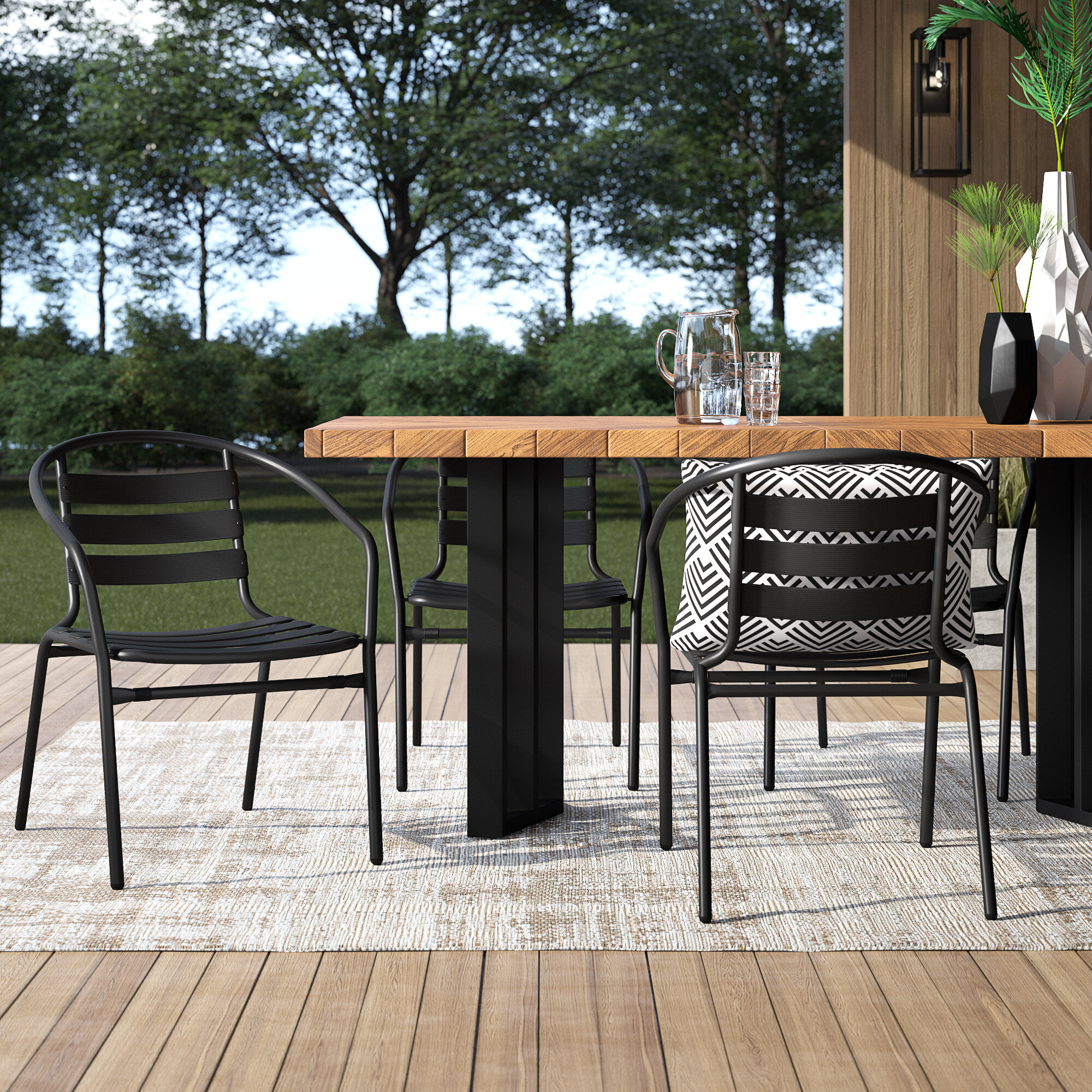 Fabulous Corrales Stacking Patio Dining Chair Unemploymentrelief Wooden Chair Designs For Living Room Unemploymentrelieforg