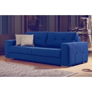 Critchlow Leather Loveseat..