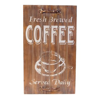 Fresh Brewed Coffee Sign Wall Décor