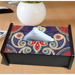 Orchid Trendz Majestic Paisley Tissue Box Cover