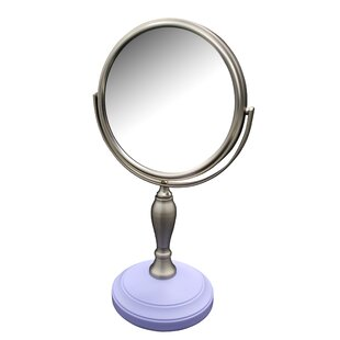 Winston Porter Albina Freestanding Bath Magnifying Makeup Mirror