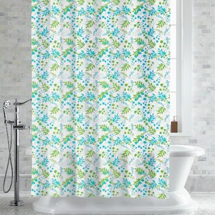 Wolters Bruno Foliage Print Single Shower Curtain