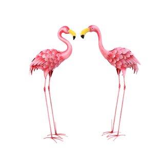 Marsh 2 Piece Flamingo Garden Stake Set by Bayou Breeze